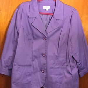 Periwinkle blazer jacket